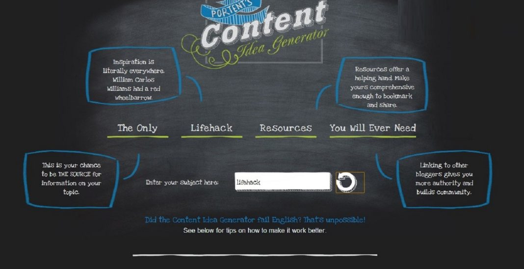 content idea generator